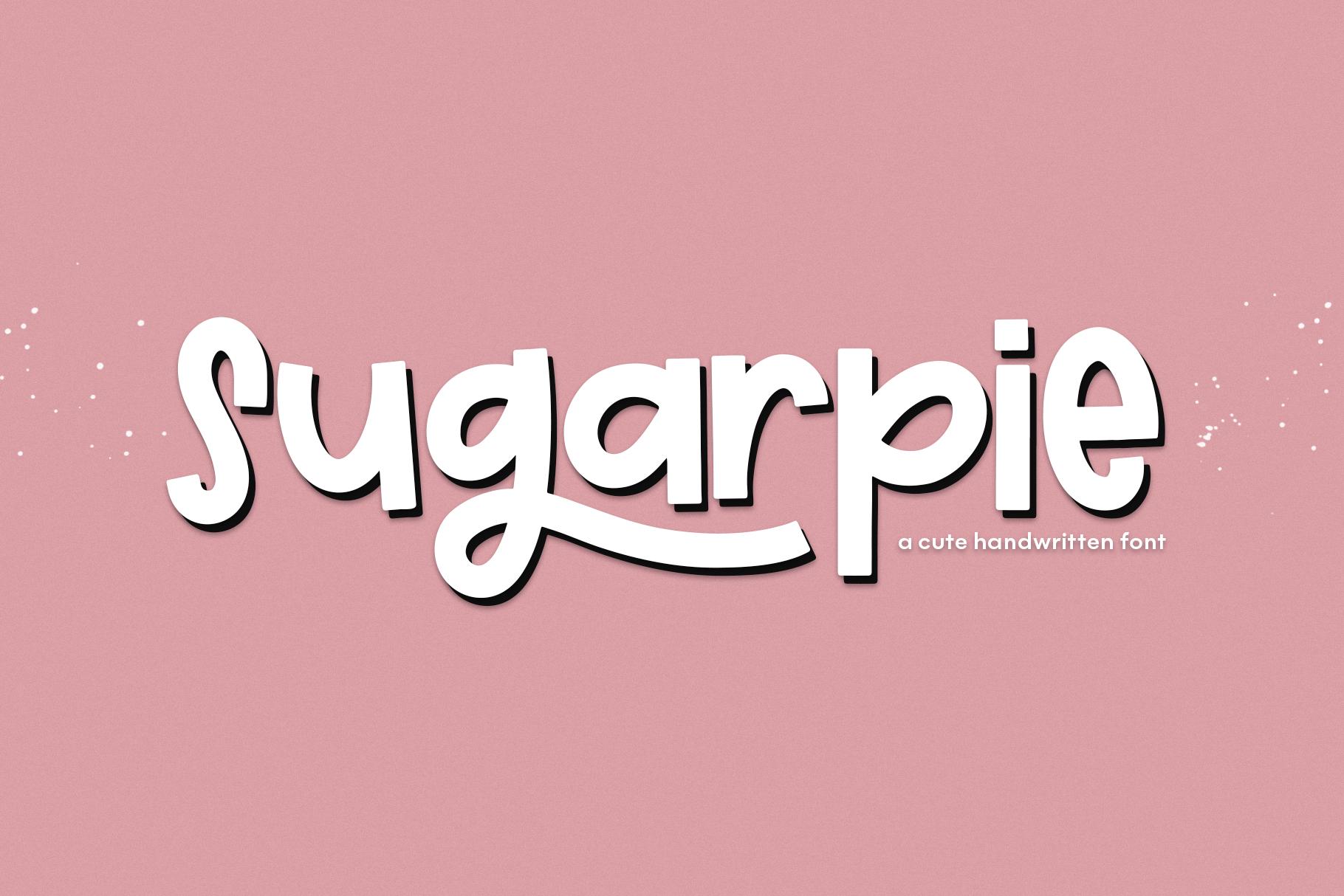 Sugarpie A Cute Quirky Handwritten Font By Ka Designs