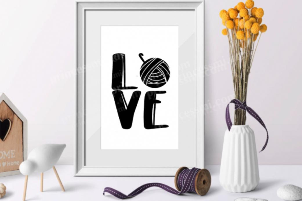 Love Knitting And Crochet Set Svg Eps Png File By Princessmi