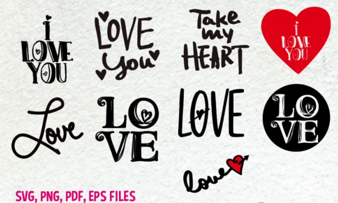 Love Set Svg Eps Png File By Princessmi Thehungryjpeg Com