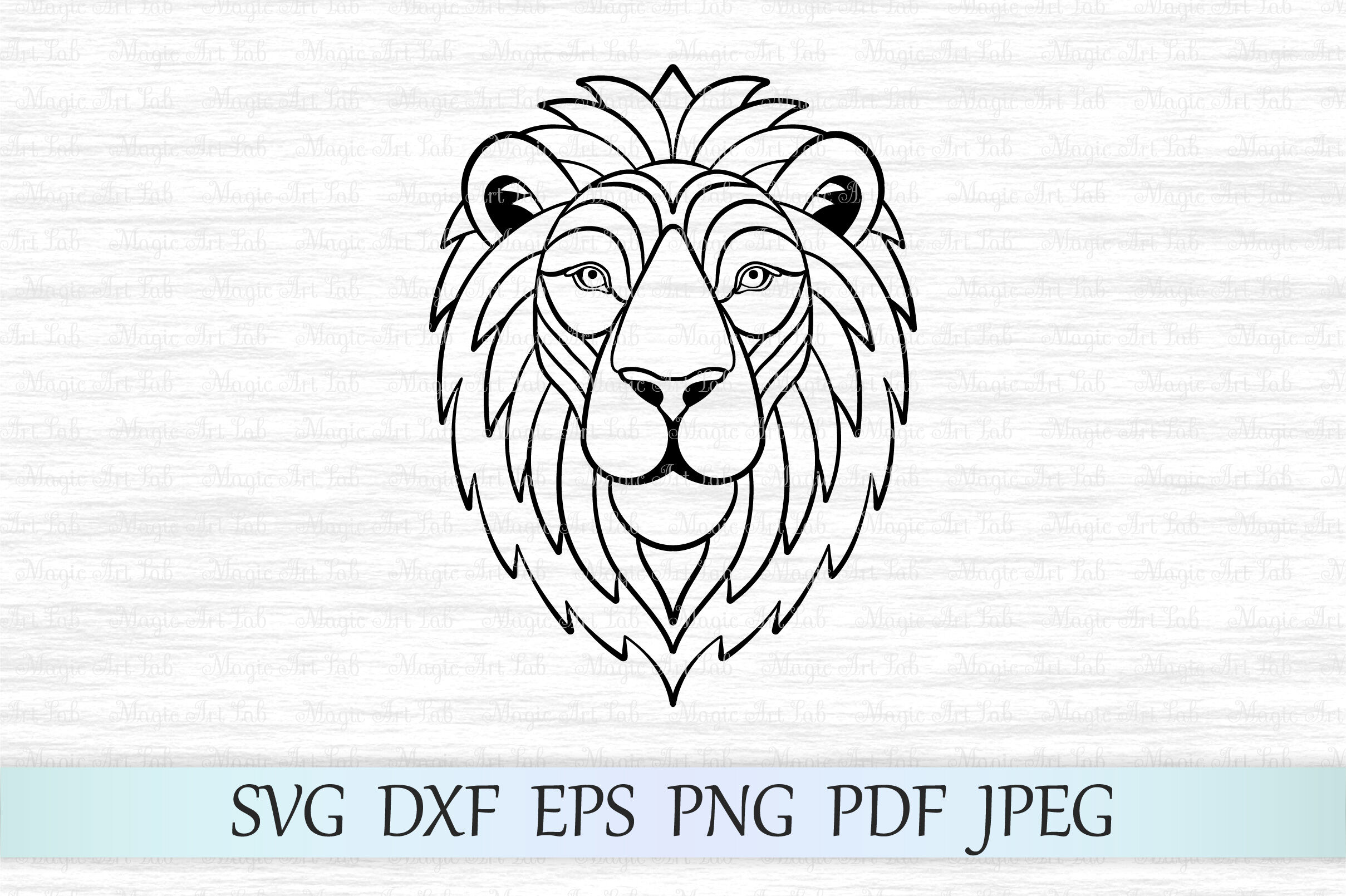 Lion Svg Lion Face Svg Lion Silhouette Zentangle Lion Lion