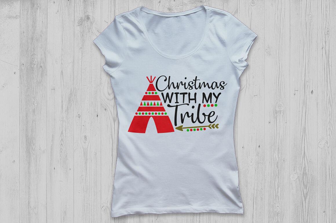 Christmas With My Tribe Svg Christmas Svg Merry Christmas Svg