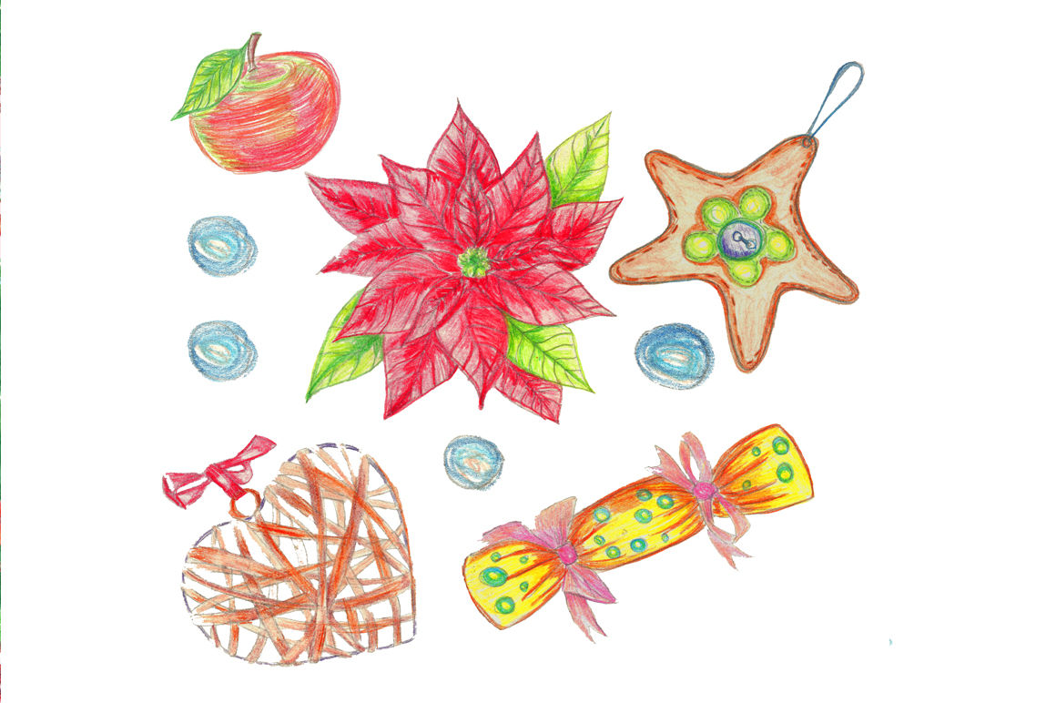 Christmas Watercolor Clip Art By Sketchlab Thehungryjpeg Com
