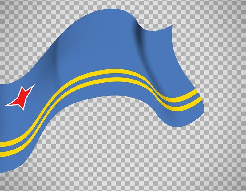 Aruba Flag On Transparent Background By Smartstartstocker