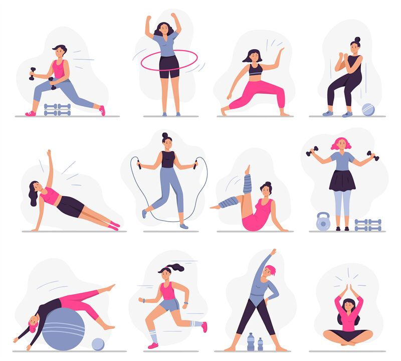 Woman Sport Activities Beautiful Young Woman Do Fitness