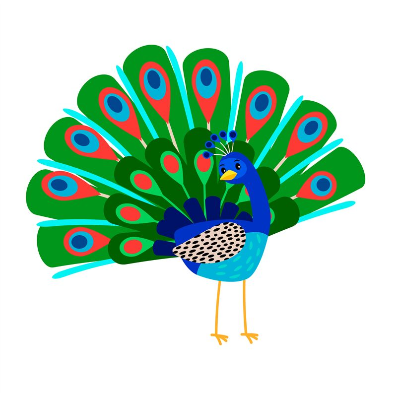 cartoon peacock bird icon by smartstartstocker thehungryjpeg com cartoon peacock bird icon by
