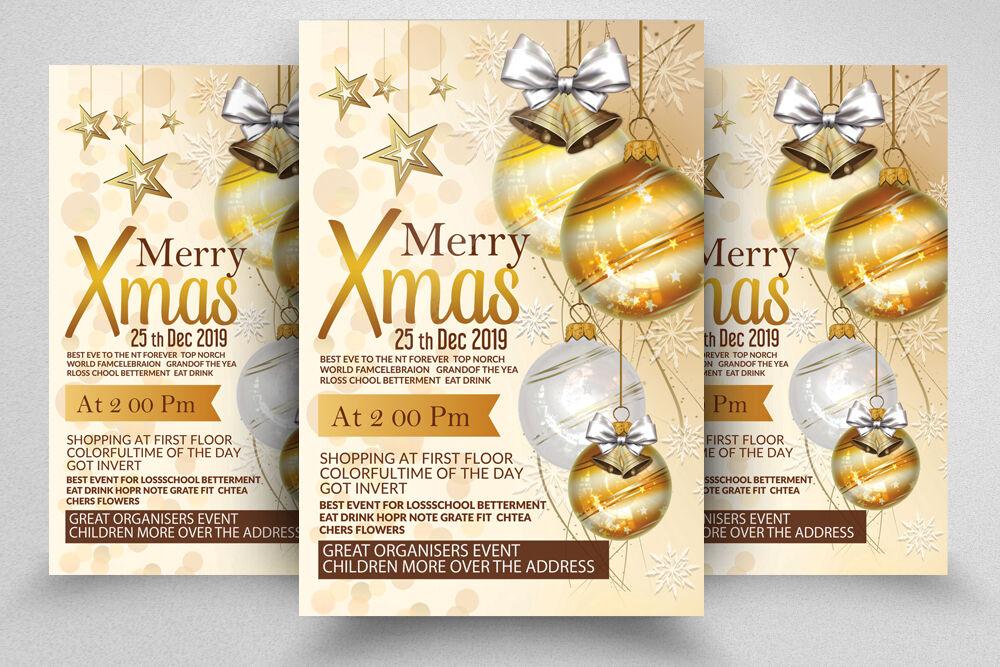 Merry Christmas Event Flyer Template By Designhub Thehungryjpeg Com