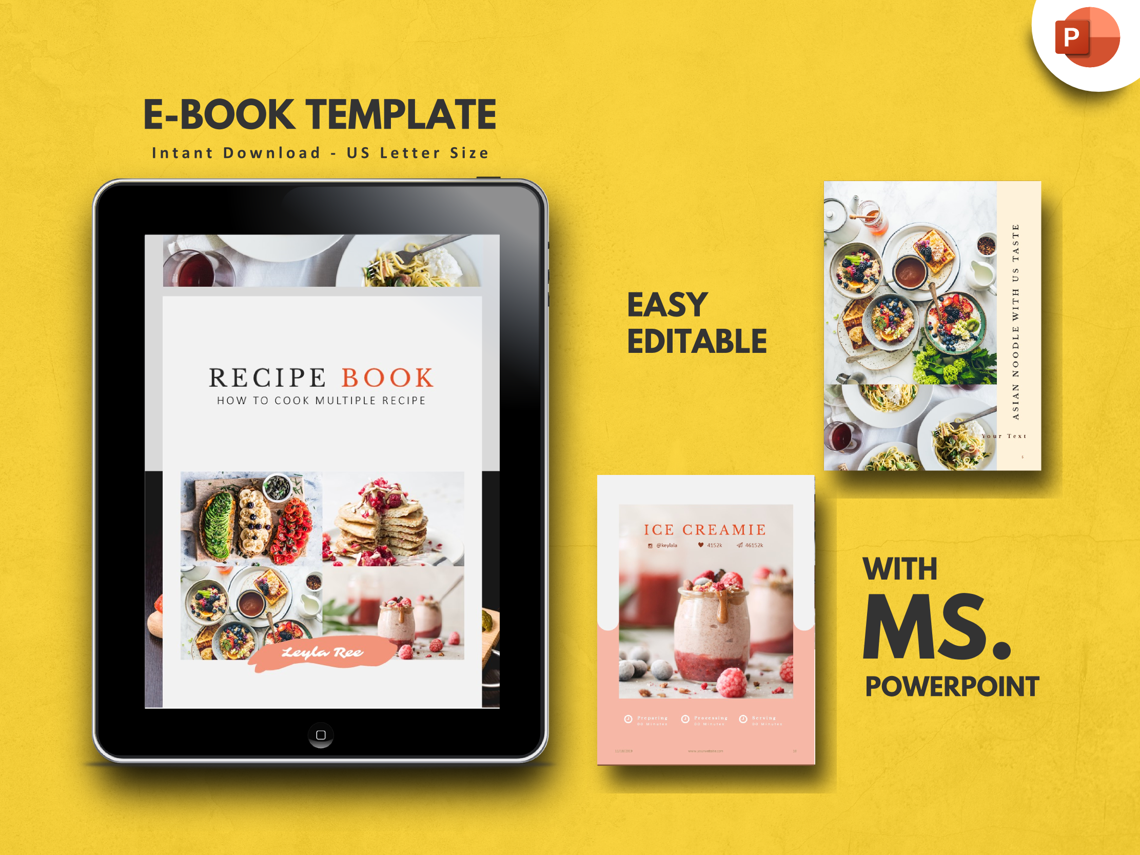 Minimal Recipe Food Powerpoint Presentation Template By