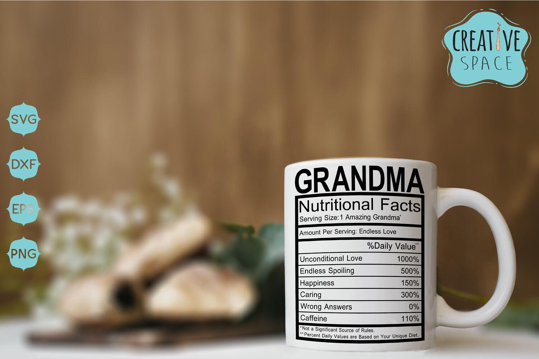 Grandma Nutritional Facts By Creativespace Thehungryjpeg Com