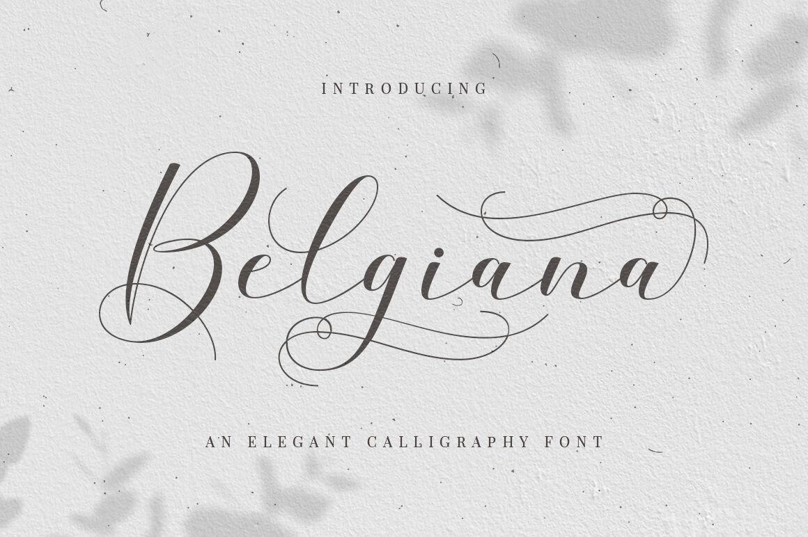 Belgiana Script By Megatype Thehungryjpeg Com