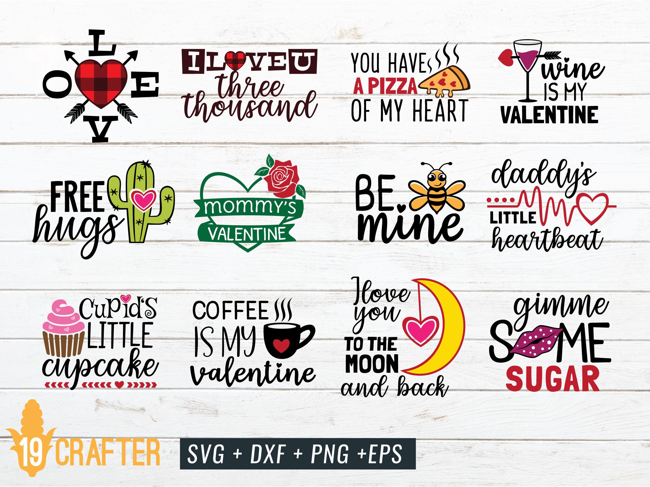 Valentine Day Svg Craft Bundle Volume 1 By Greatype19