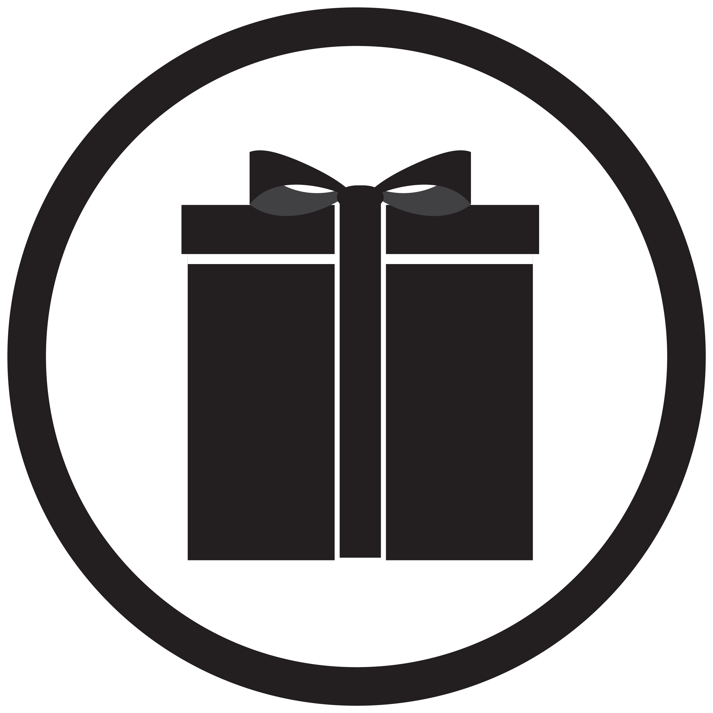 Black White Gift Box Vector By 09910190 Thehungryjpeg Com