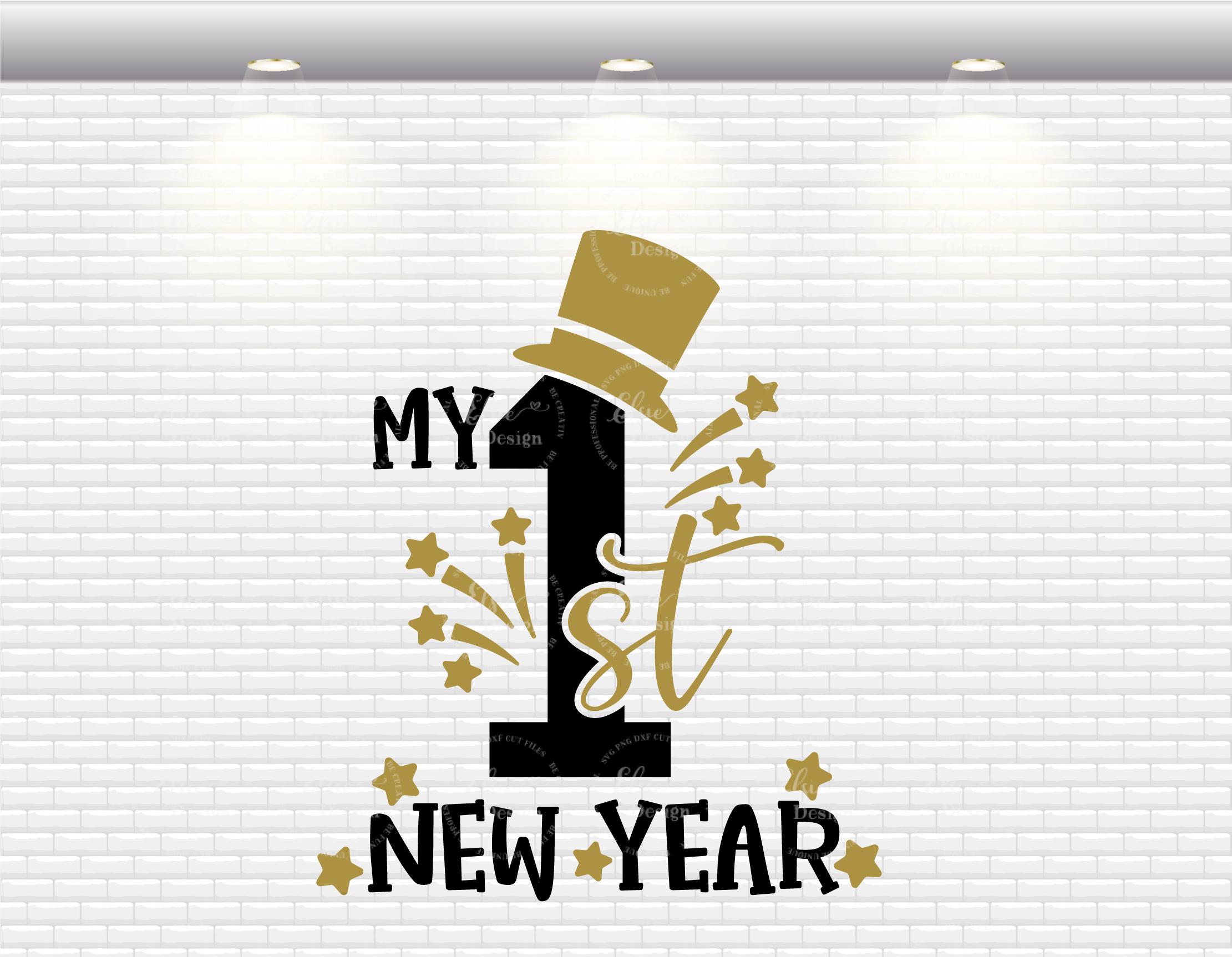 My First New Year Gentleman Svg By Elsielovesdesign Thehungryjpeg Com