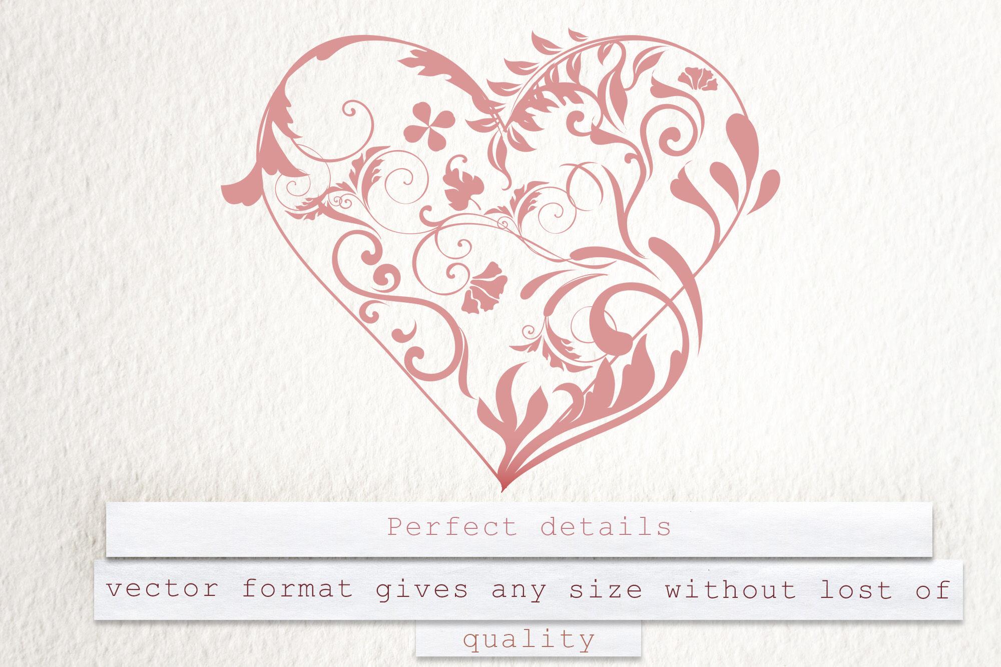 Heart Beat Set Of Vector Swirl Hearts By Fleurart Thehungryjpeg Com