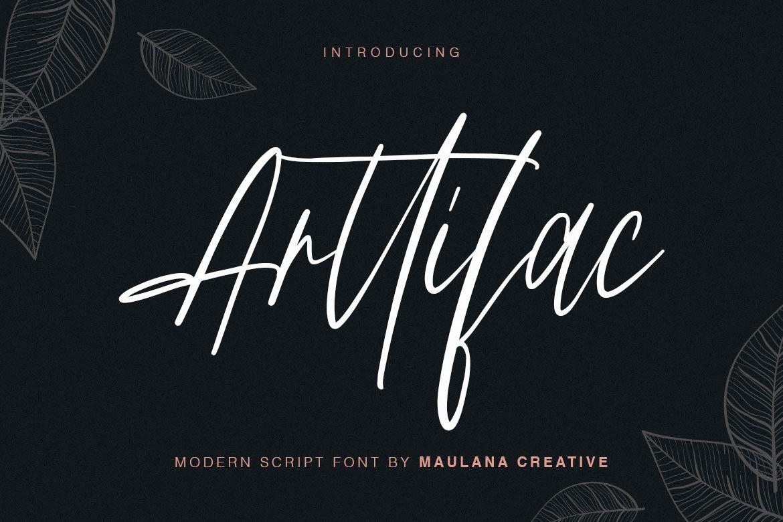 Arttifac Modern Script Font By Maulana Creative Thehungryjpeg Com