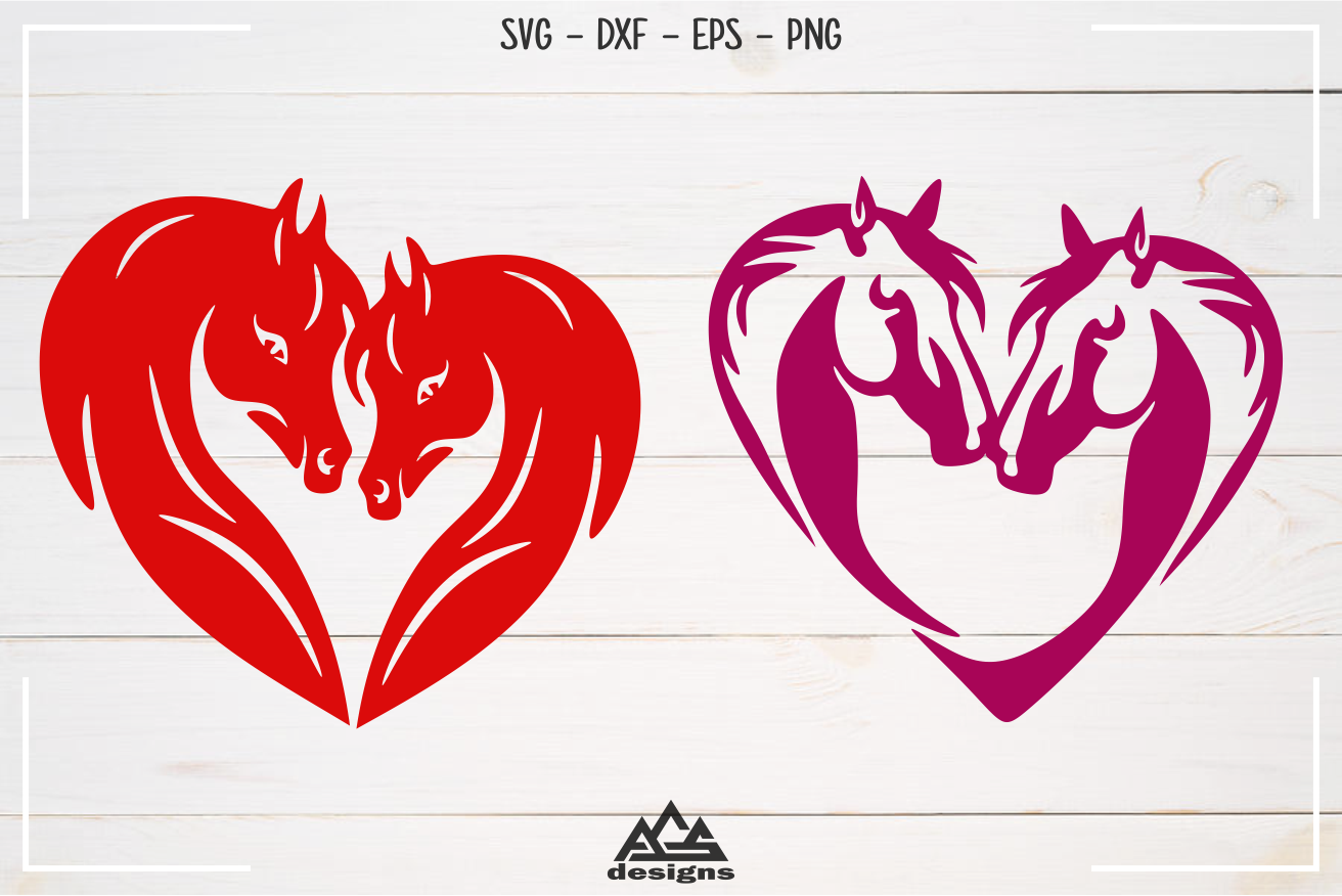 Horse Love Heart Valentine Svg Design By Agsdesign