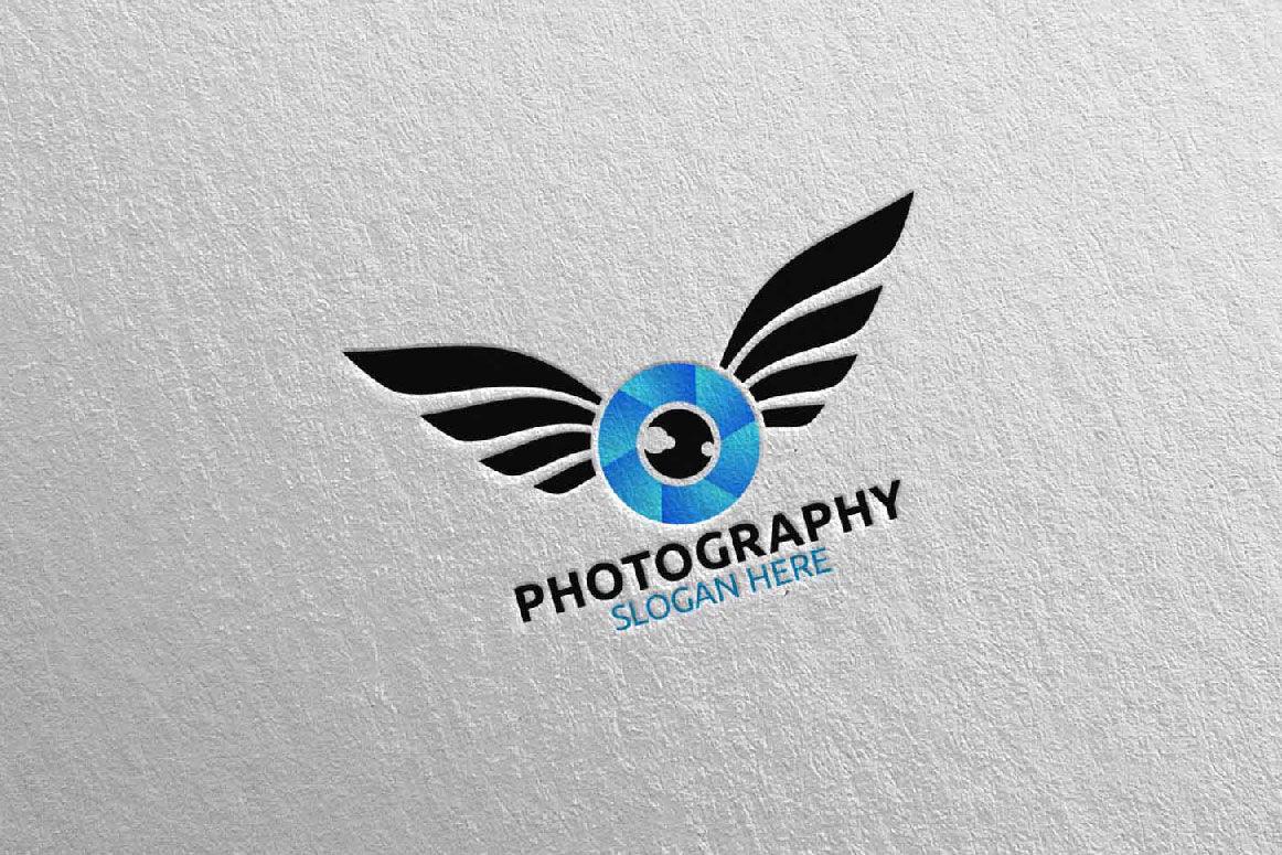 Fly Wing Camera Photography Logo 43 By Denayunethj Thehungryjpeg Com