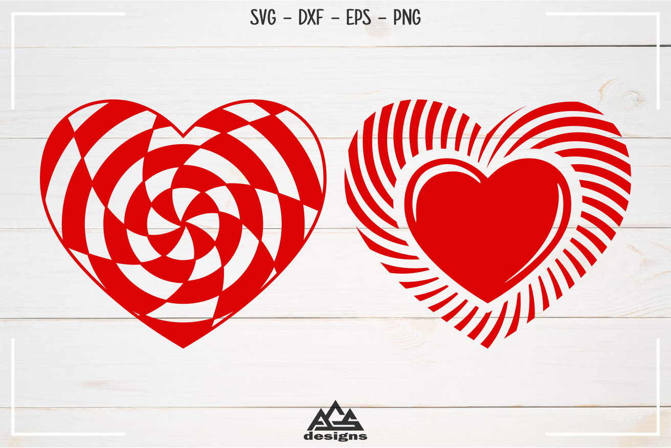 Heart Love Shape Valentine Pack Svg Design By Agsdesign