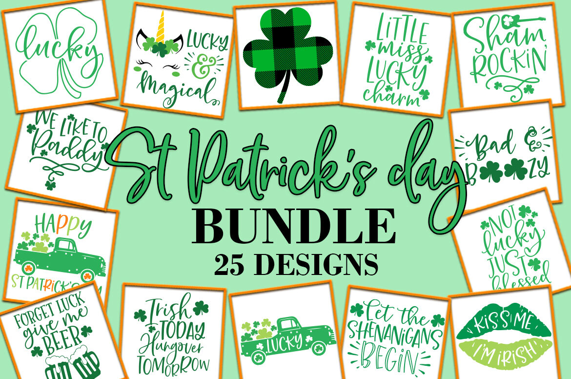 St Patrick S Day Quotes Sayings Svg Design Bundle By Freeling