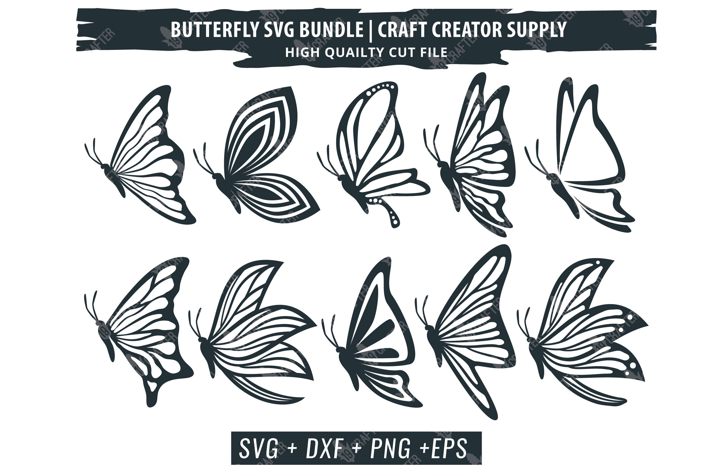 Butterfly Svg Bundle Beautiful And Detail Quality By Greatype19
