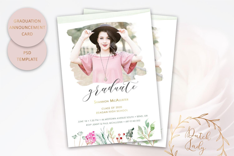 Psd Graduation Announcement Card 9 By The Dutch Lady Designs