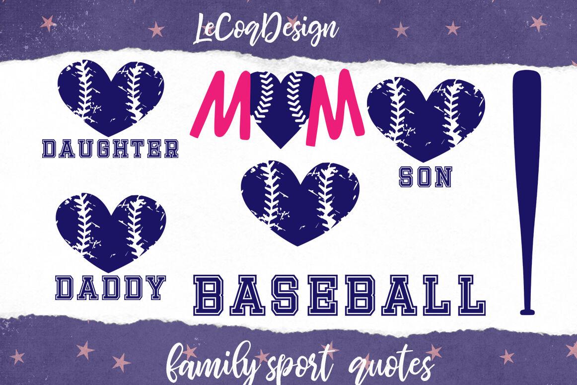 Sport Family Clipart Baseball Family Dad Mom Children By
