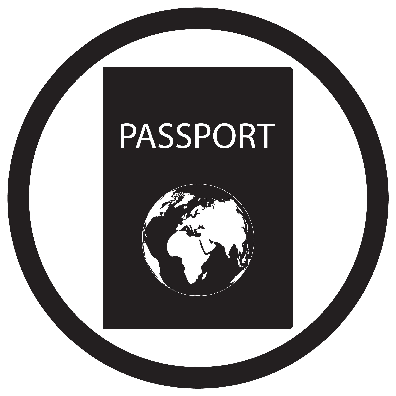 Passport Icon Black White By 09910190 Thehungryjpeg Com