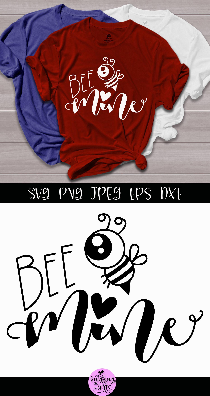 Bee Mine Svg Valentine Shirt Svg By Midmagart Thehungryjpeg Com
