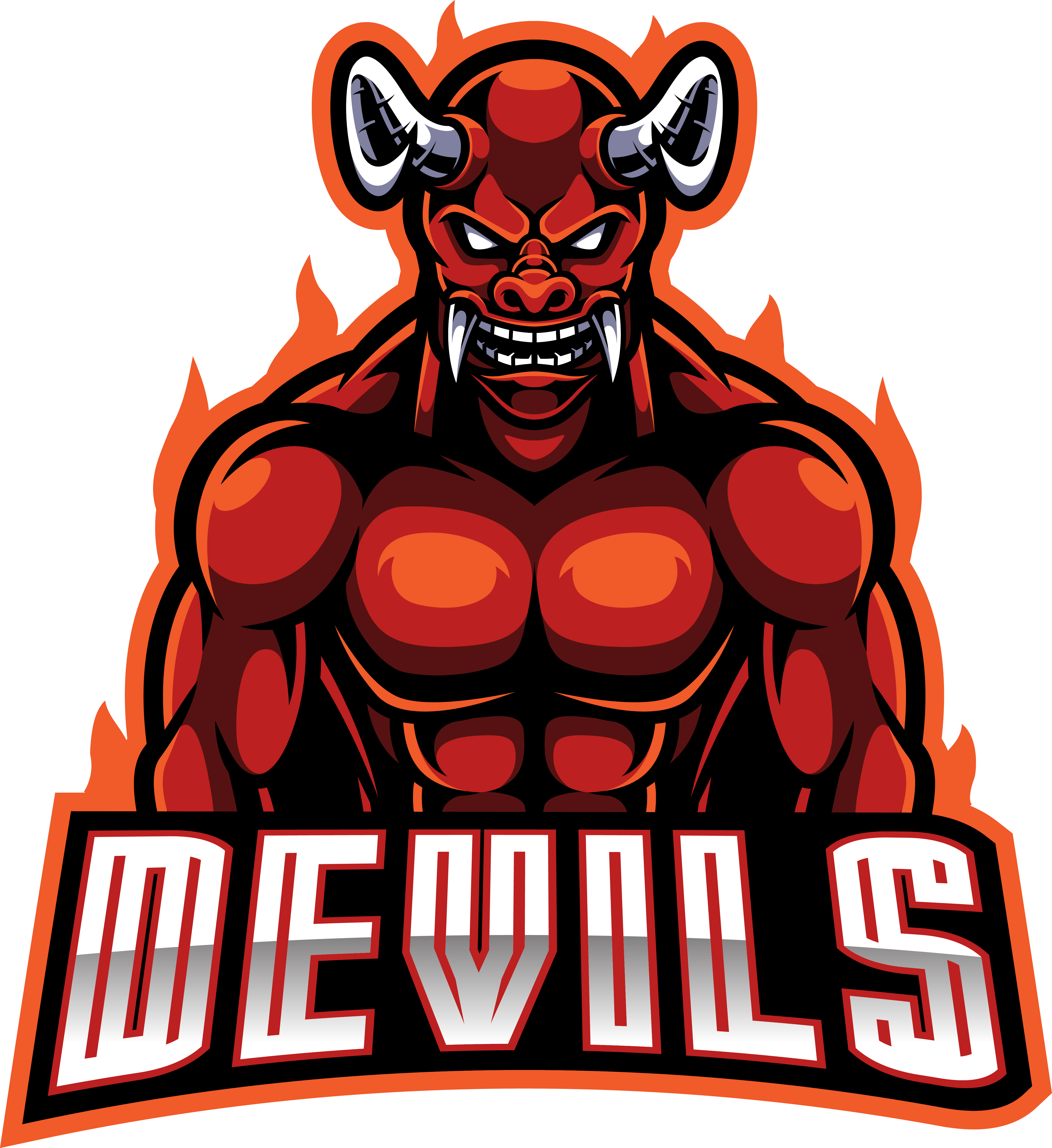 red devil esport mascot logo design by visink thehungryjpeg com the hungry jpeg
