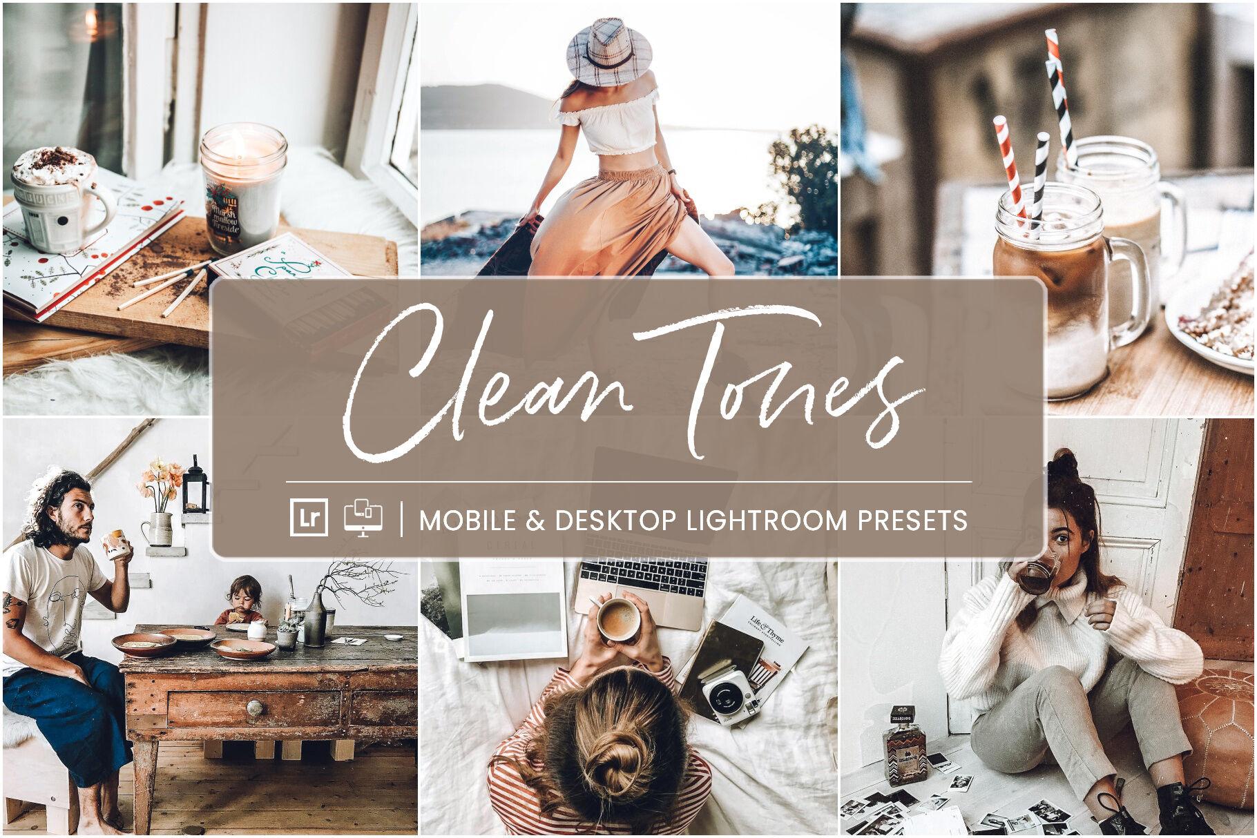 Clean Tones Mobile Desktop Lightroom Presets By Nes Studio