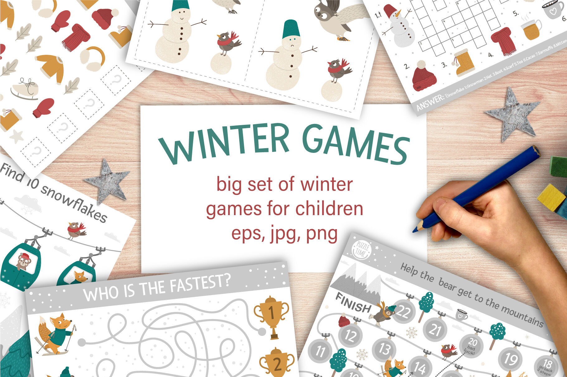 Winter Games By Lexi Claus Thehungryjpeg Com