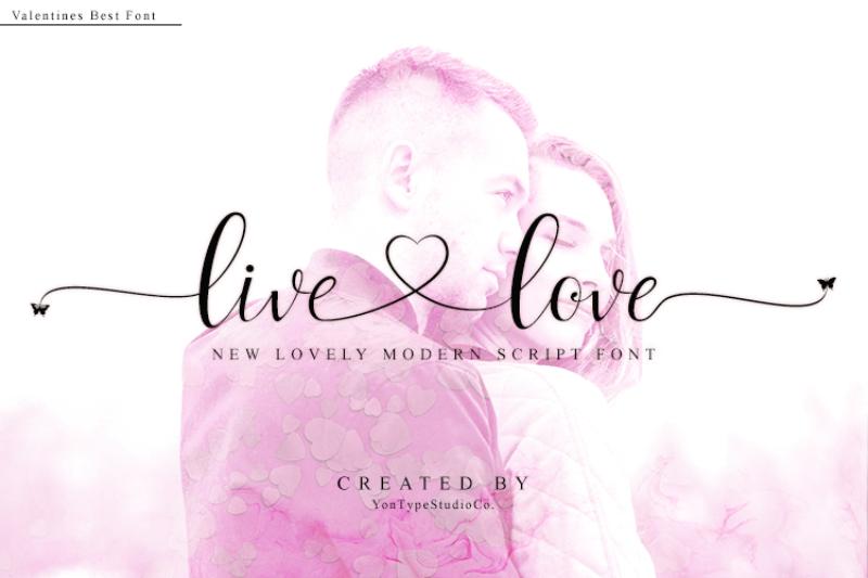 Live Love Font By Yontypestudio Co Thehungryjpeg Com