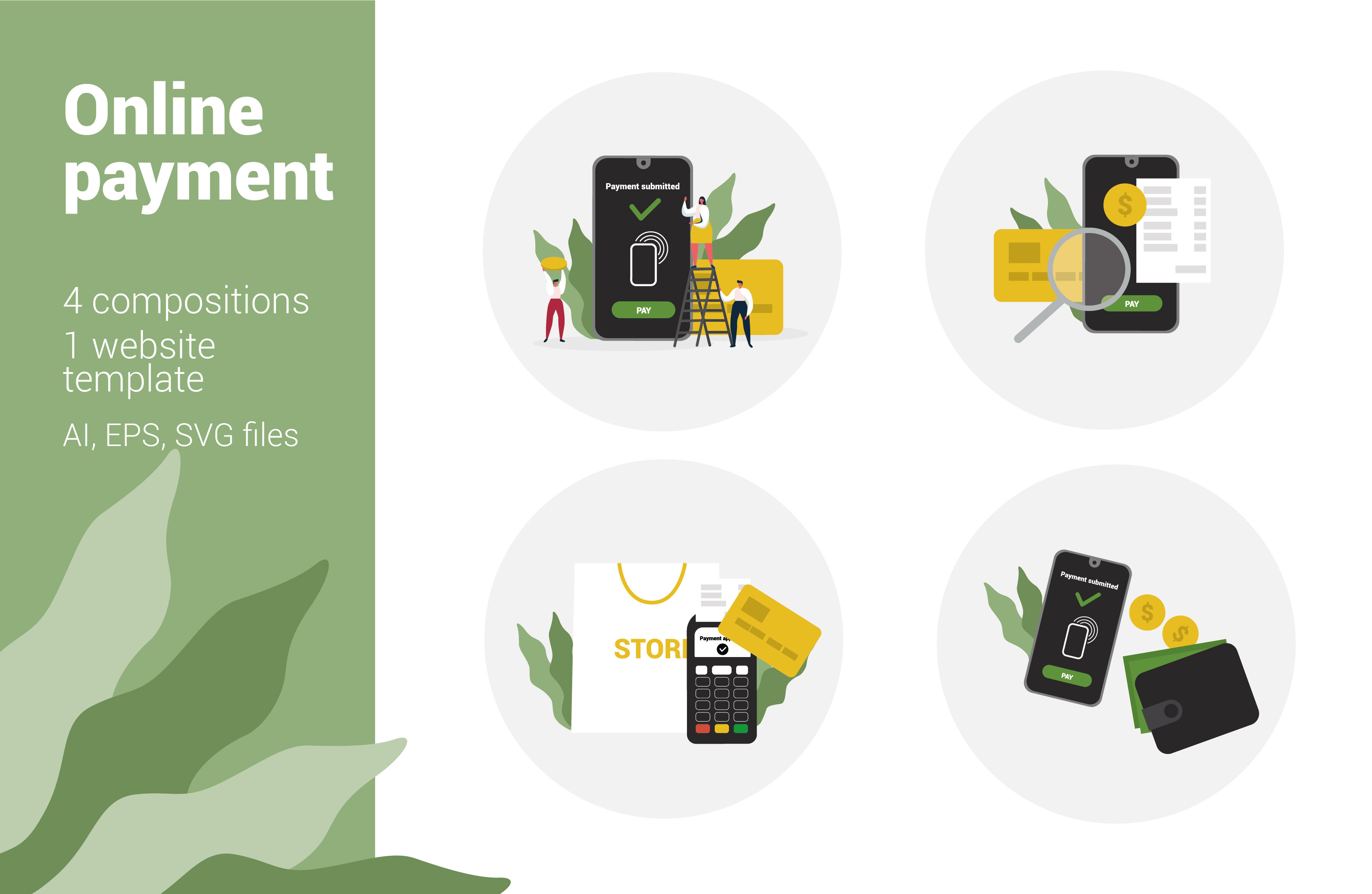 Online Payment Flat Illustrations By Annk Art Thehungryjpeg Com