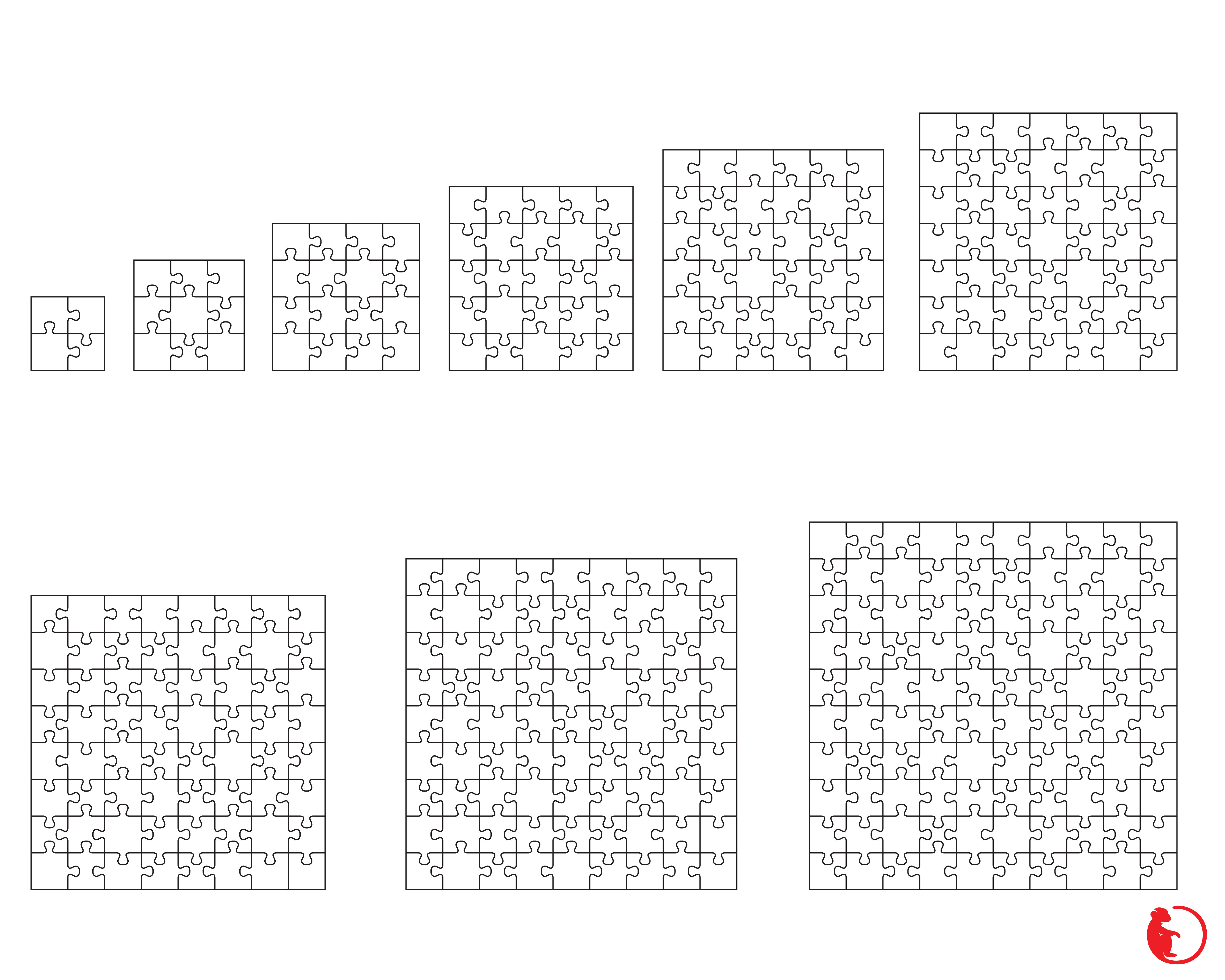 Big Collection Of White Puzzles Svg Dxf Png Eps And Jpg Files