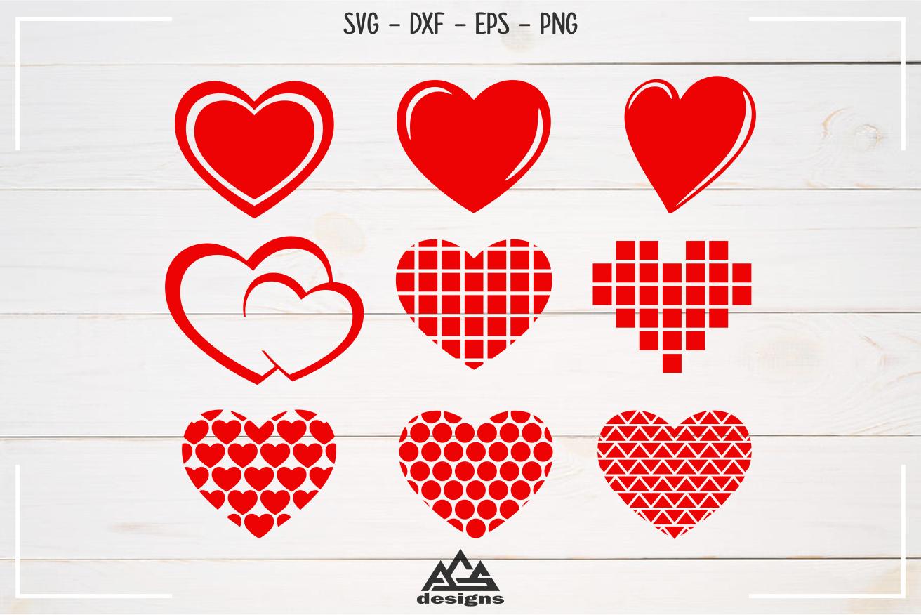Love Heart Valentine Packs Svg Design By Agsdesign Thehungryjpeg Com