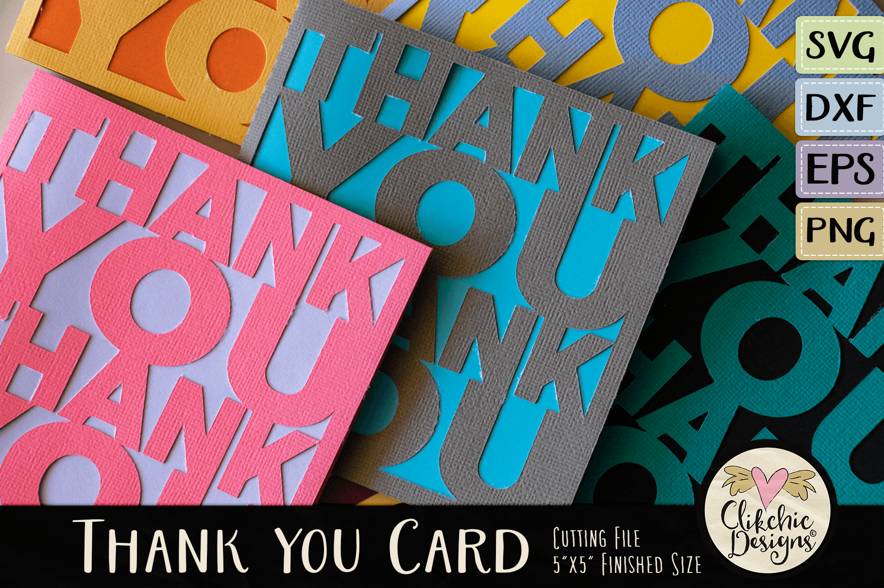 Thank You Card Svg Cutting File Tutorial By Clikchic Designs
