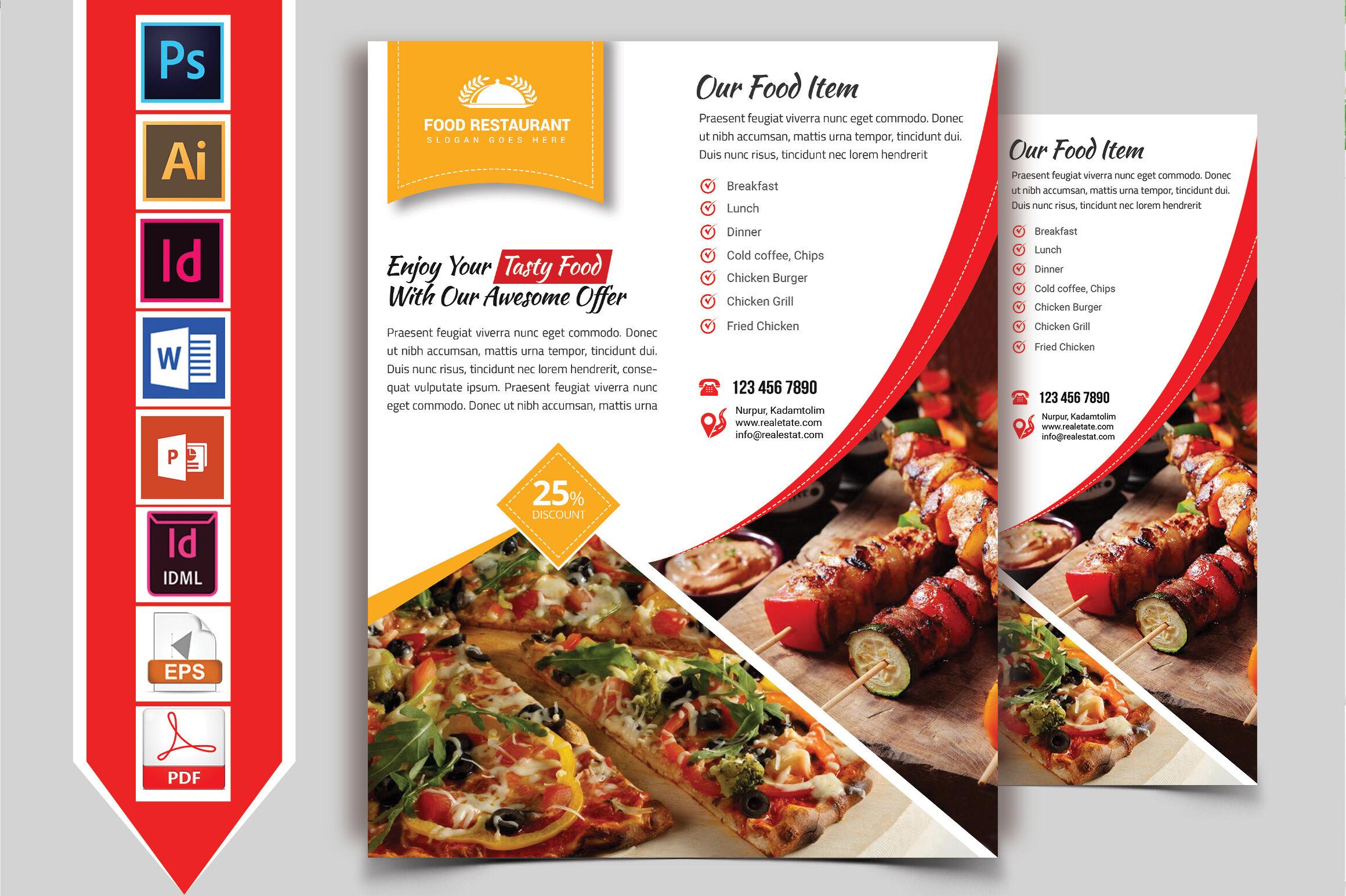 Restaurant Flyer Vol 10 By Imagine Design Studio Thehungryjpeg Com