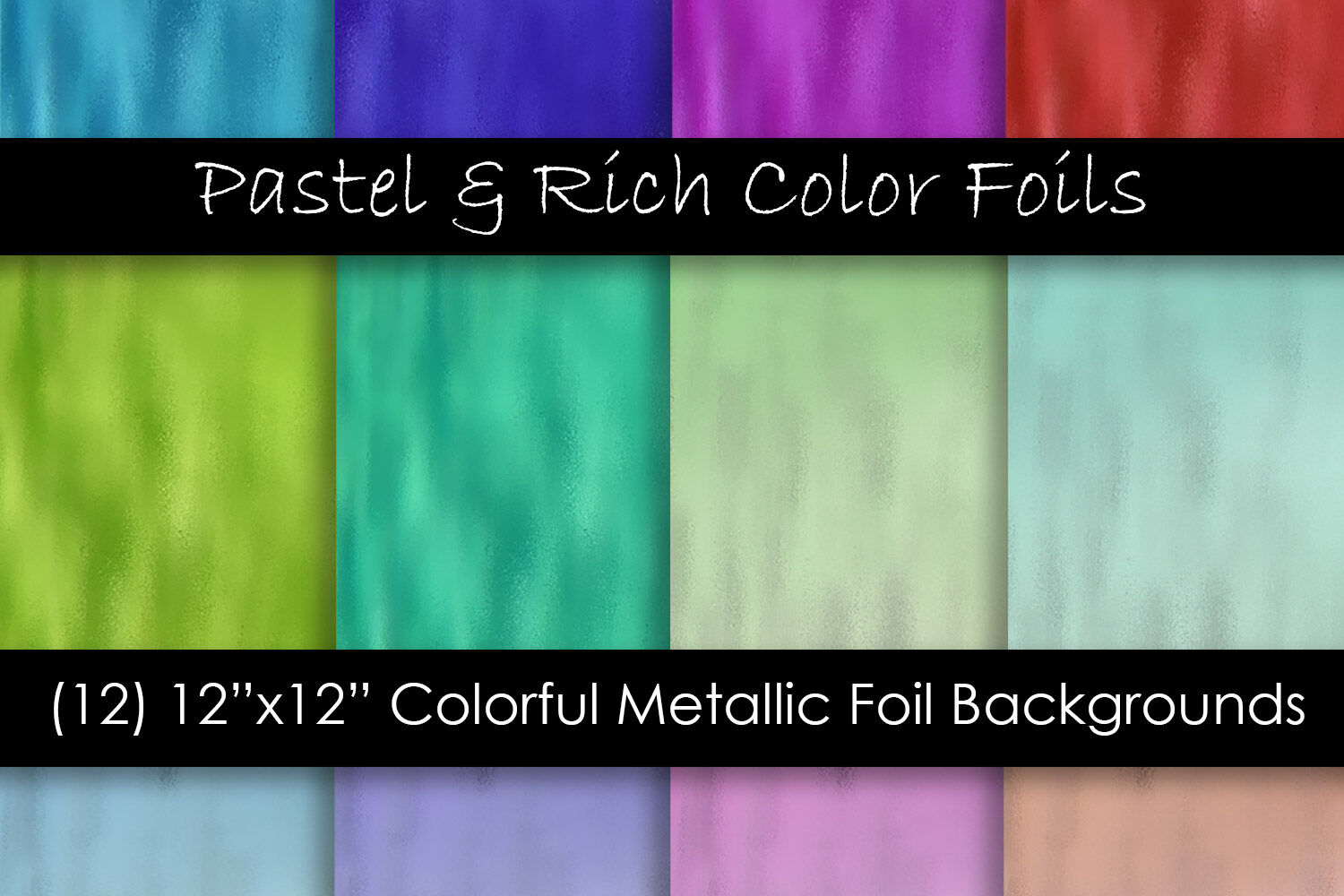 Rich And Pastel Color Metallic Foil Textures By Gjsart