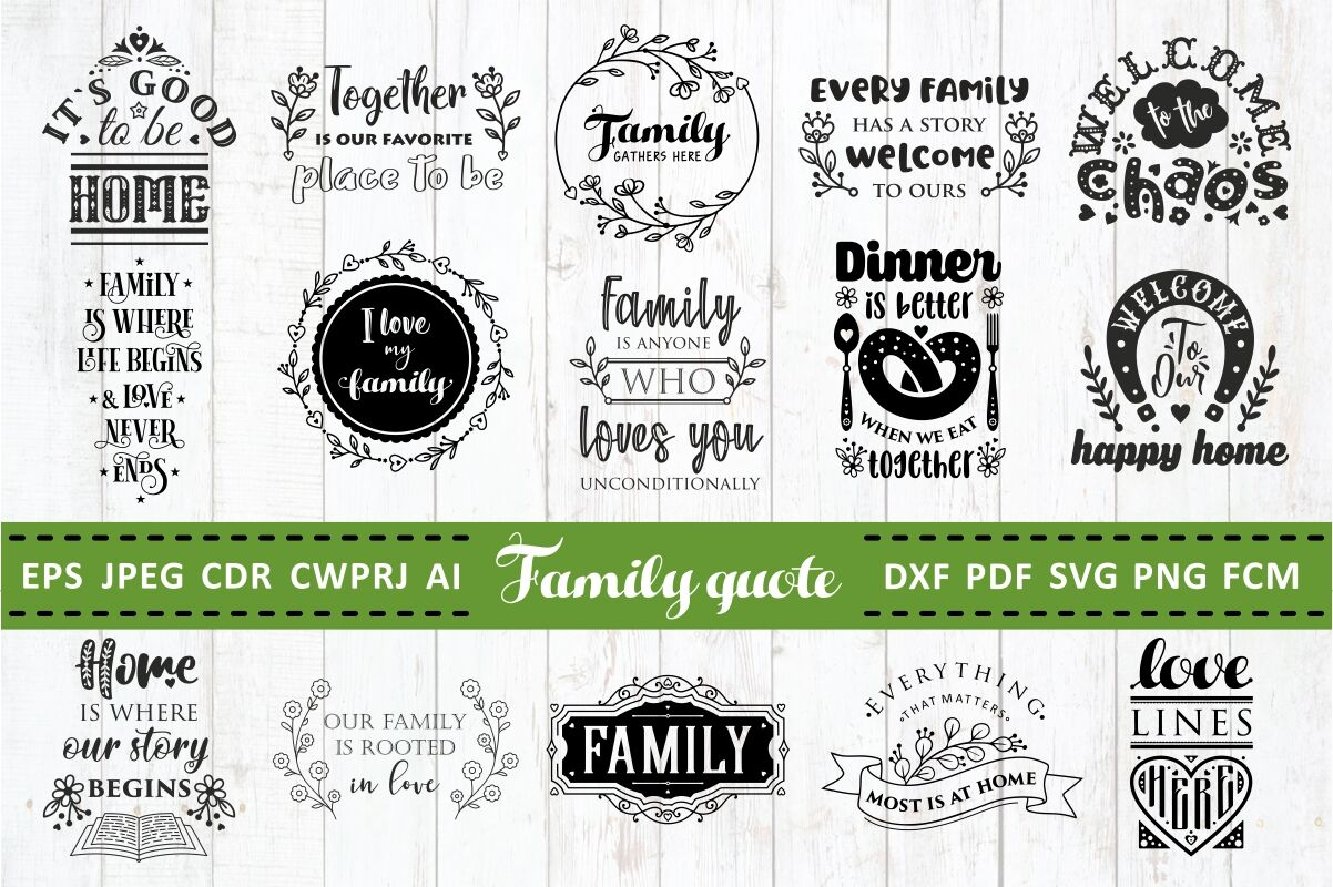 Love Family Quotes Svg Bundle Vol 2 By Zoya Miller Svg