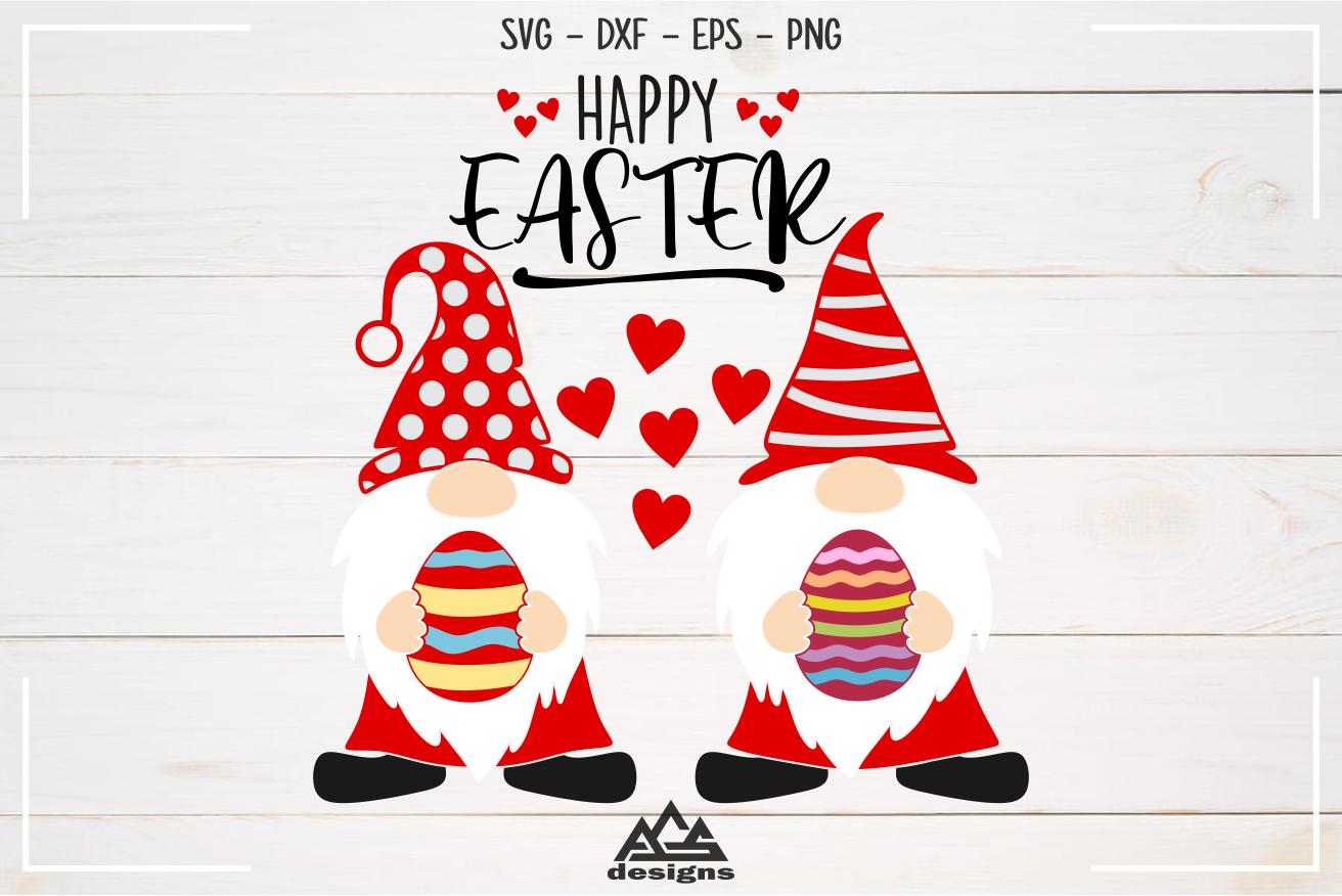 Happy Easter Gnome Svg Design By Agsdesign Thehungryjpeg Com