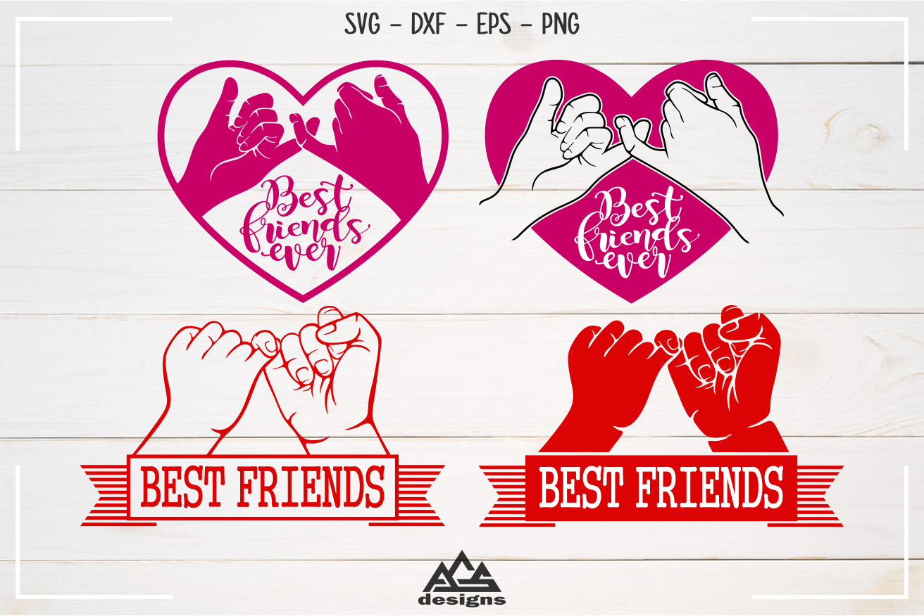 Best Friends Pinky Promise Svg Design By Agsdesign Thehungryjpeg Com