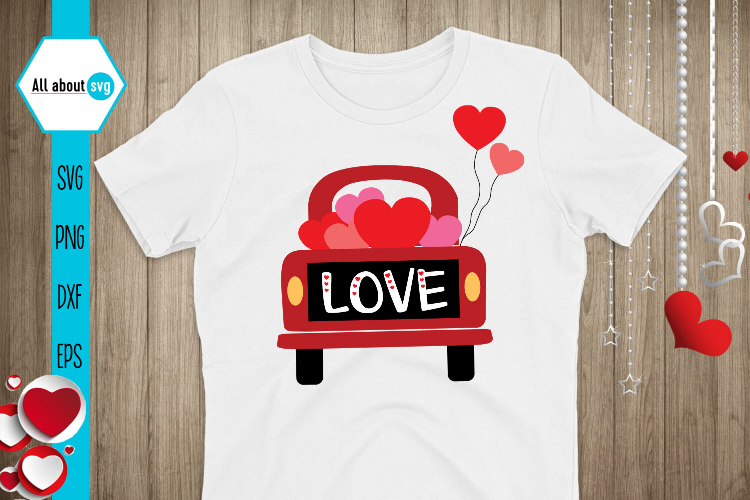 Valentines Truck Svg By All About Svg Thehungryjpeg Com