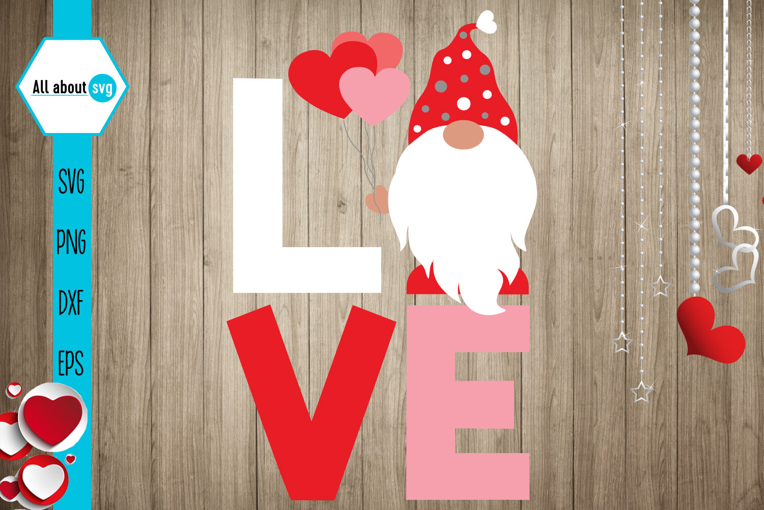 Download Love Gnome Svg, Valentines Gnome Svg By All About Svg ...