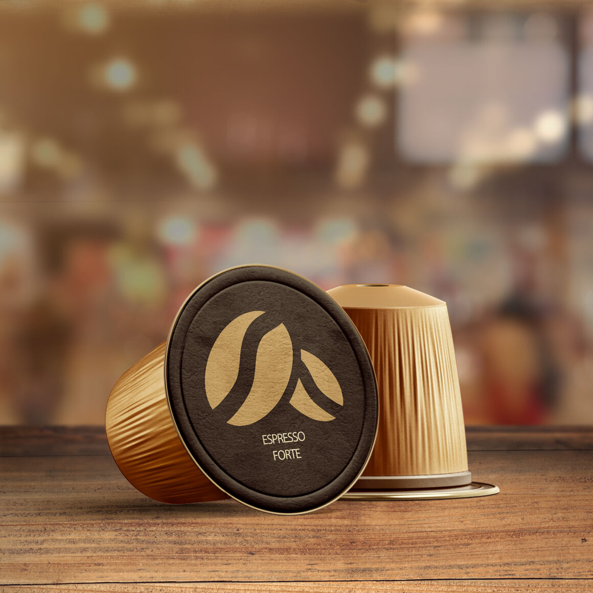 Download Coffee Capsules Mockups Yellow Images
