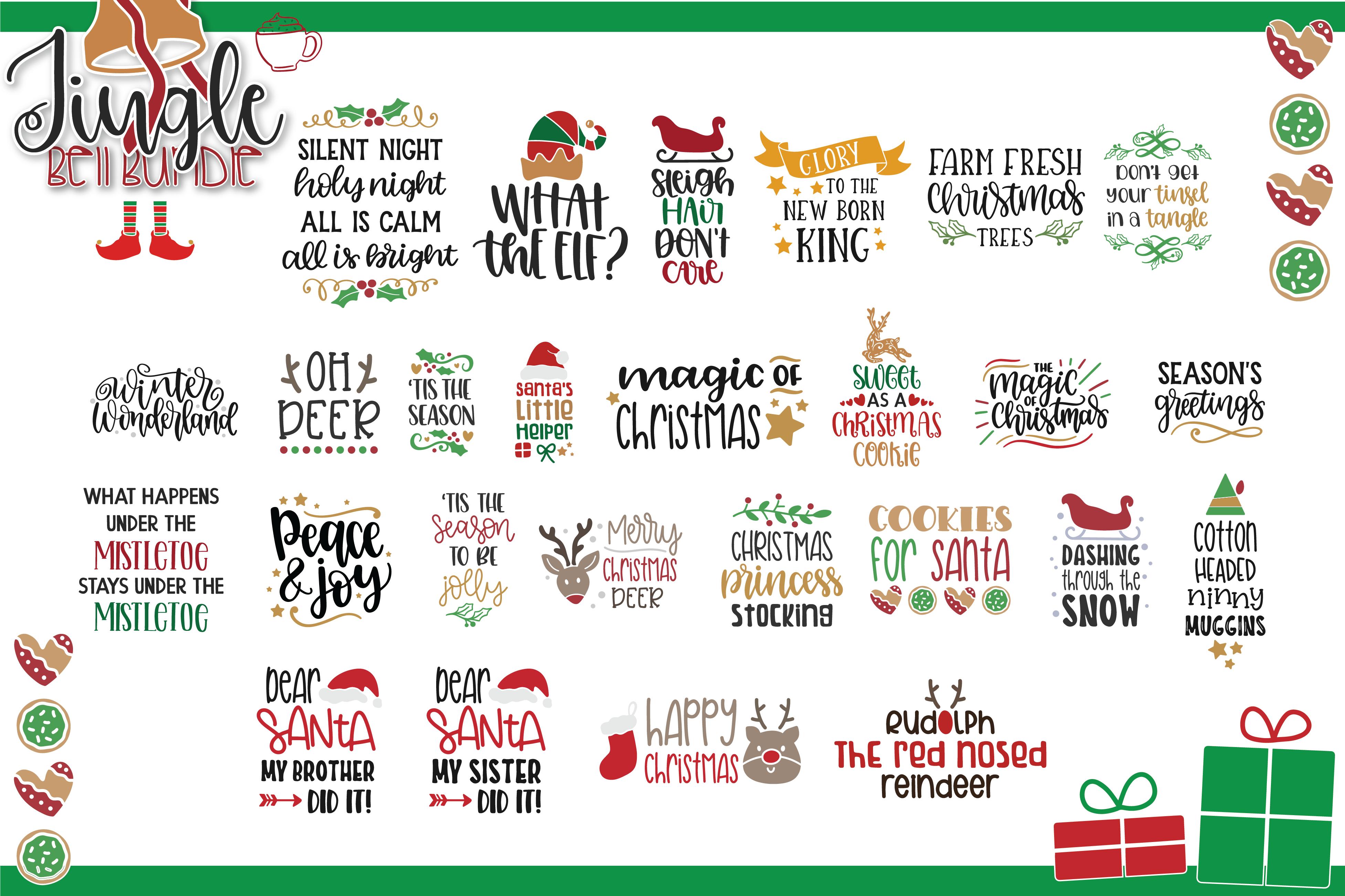 The Jingle Bell Svg Bundle Christmas Bundle By Lovesvg