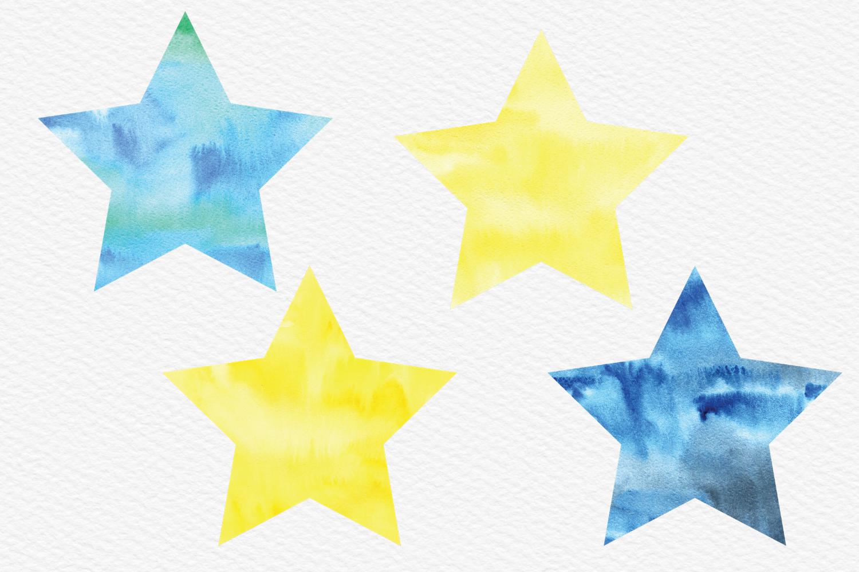 Watercolor Stars Clip Watercolor Texture Star Clipart Night Sky