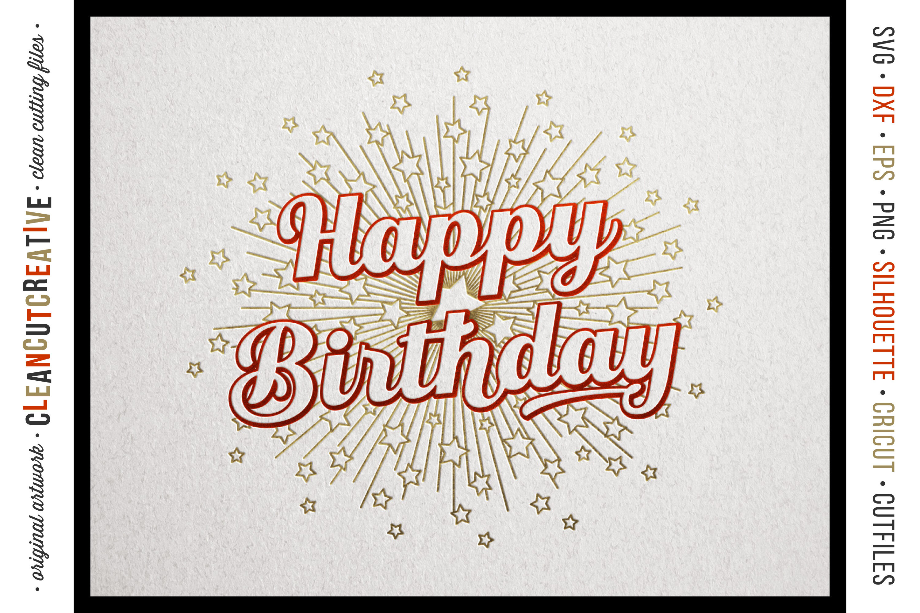 Foil Quill Happy Birthday Single Line Sketch Design Svg By