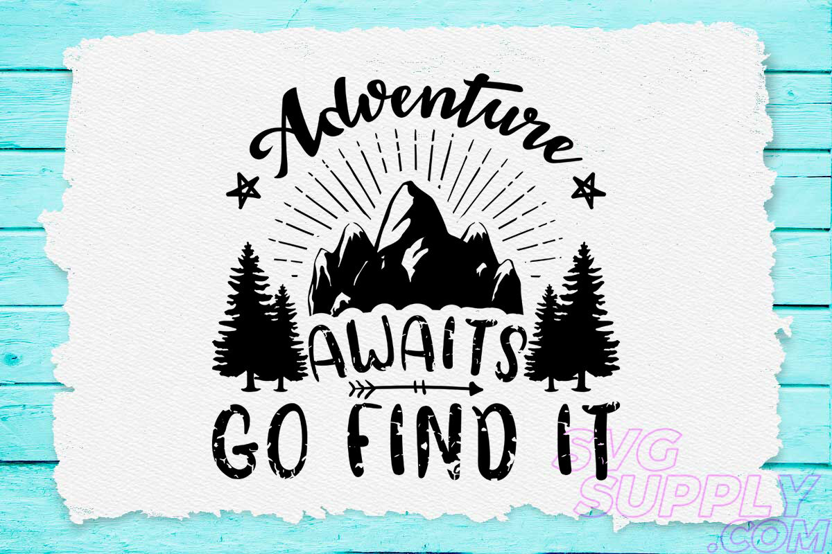 Adventure Awaits Svg Design For Adventure Hat By Cuttingsvg