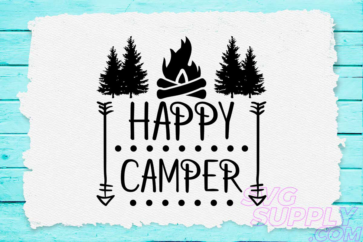 Happy Camp Svg Design For Adventure Handcraft By Cuttingsvg