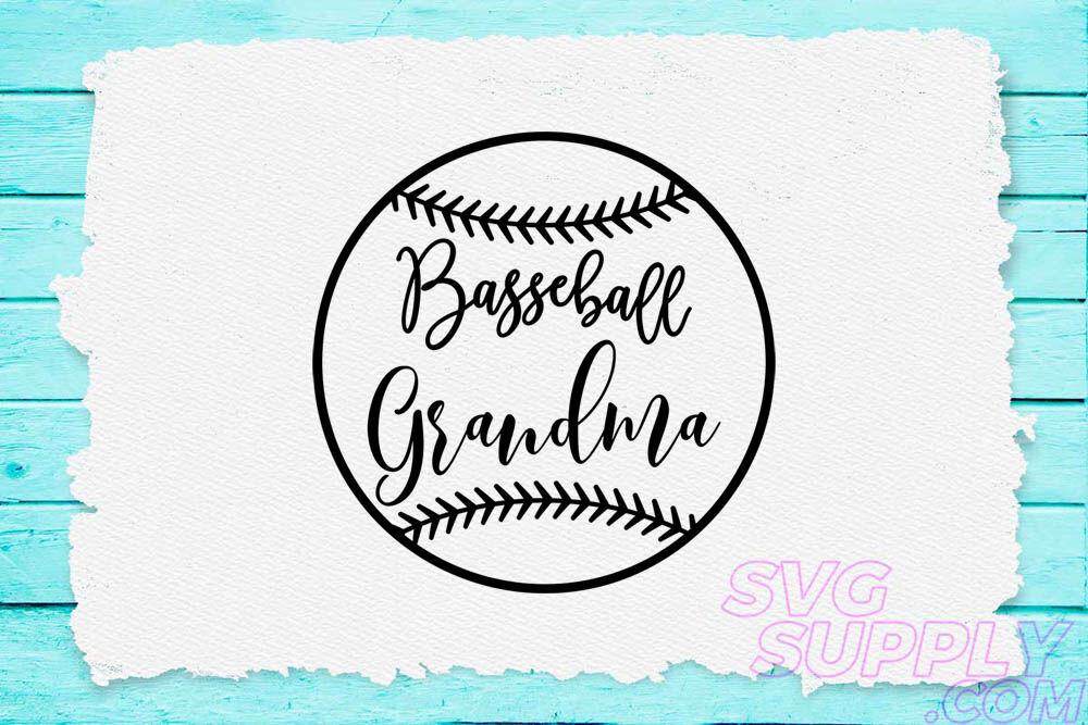 Baseball Grandma Black Svg For Baseball Tshirt By Cuttingsvg Thehungryjpeg Com