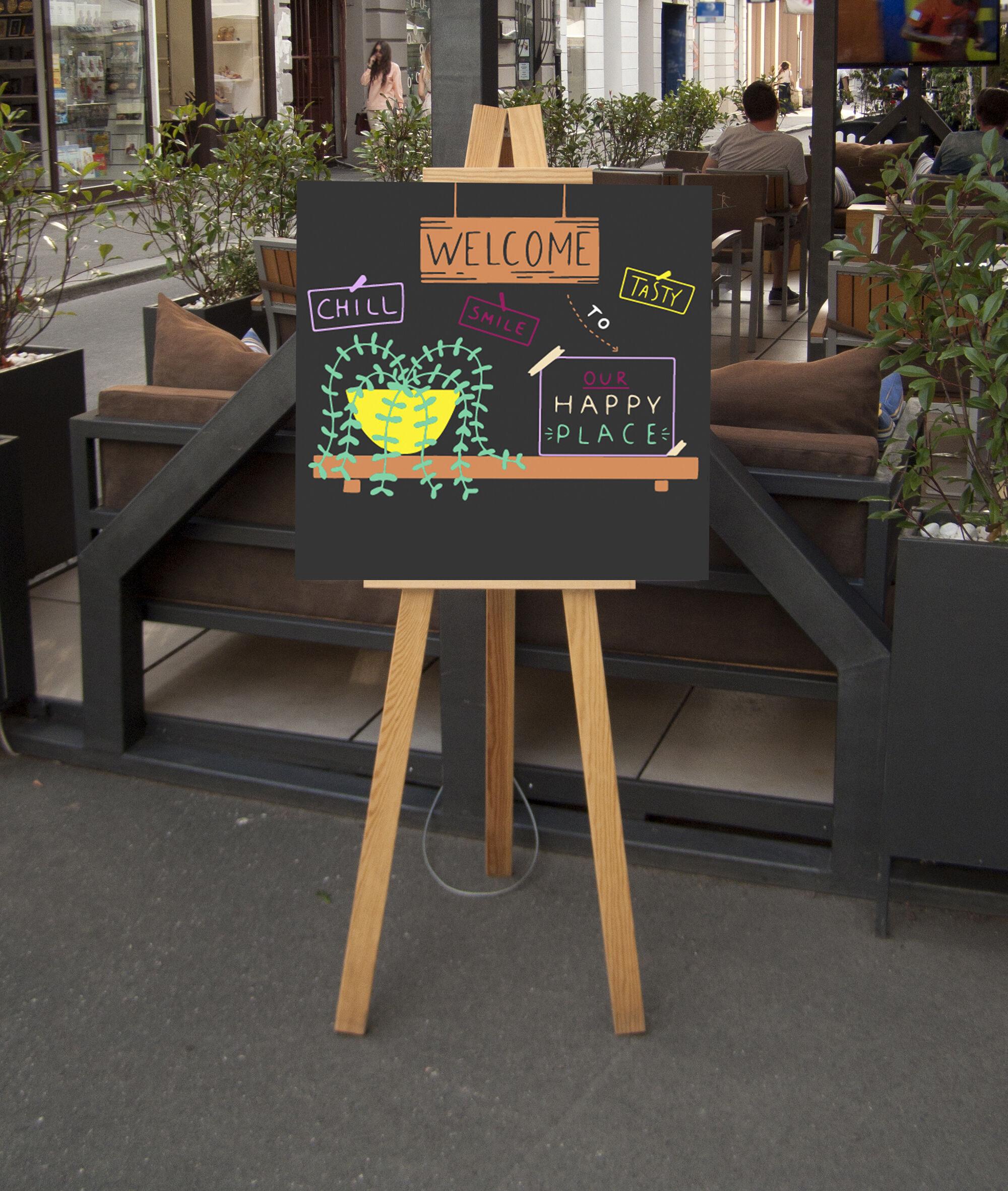 Dessert Doodles Chalkboard Wall Art By Elvinova Thehungryjpeg Com